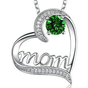 Heart crystal zircon necklace